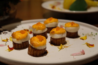 Tien Court Offering 53% Discount For Dim Sum At Copthorne Kings - Baked Fresh Scallops served with Cheese Mayonnaise and Teriyaki Brinjal 蒜香焗带子 ($36)