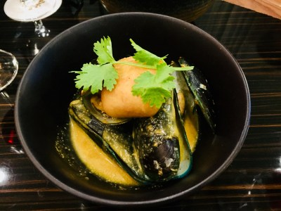 Porta x Ah Hua Kelong Introducing 6-Course Marine Treasures Menu - Local Green Lip Mussel with Red Curry, Coconut and Lime