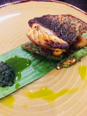 Porta x Ah Hua Kelong Introducing 6-Course Marine Treasures Menu - Sea Bass with  Aubergine, Okra Belacan and Chili
