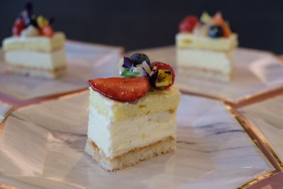 Cake Club By Marina Square Wrapping Up With Three Cakes By Eddie Stewart - Longan and Blueberry Cake ($9)