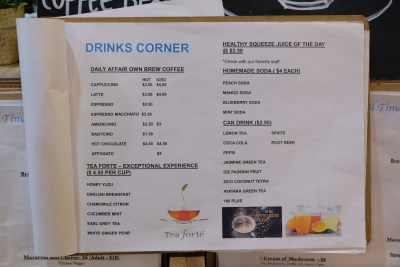 Daily Affairs, A Hidden Cafe At Cairnhill Community Club - Non-Alcoholic Drink Menu
