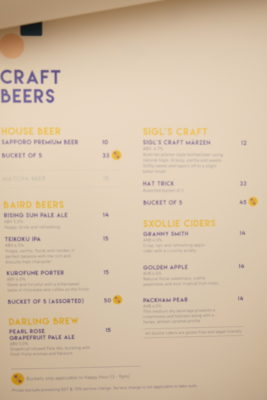 Grids & Circles, Cafe With Workshop In A Conservatory Shophouse Along South Bridge Road - Craft Beers Menu