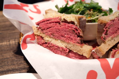 Tock's Shanghai, An Authentic Montreal Deli Experience Even Canadian Prime Minister Justin Trudeau Dine There - Tock's Signature Smoked Beef Sandwich closed-up