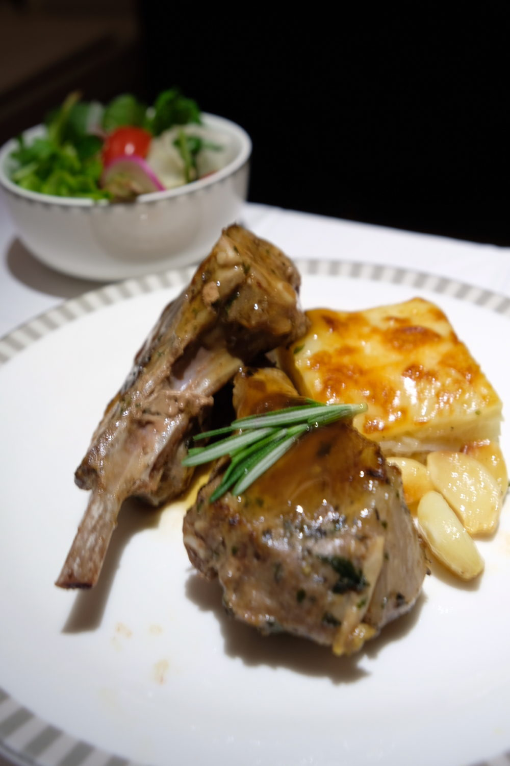 Singapore To Mumbai On SQ424 Business Class, Airbus A380-800 - Book The Cook, Roast Lamb Chop
