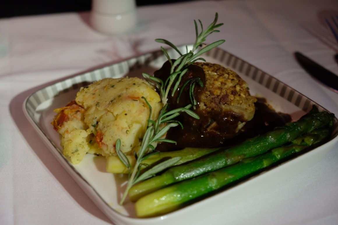 Singapore Airlines Business Class Book A Cook - Seared Nut-Crusted Veal Fillet