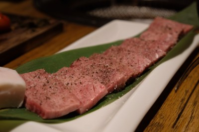 Aburiya Boat Quay Where You Find All The Premium Japanese Wagyu Beef - Atsugiri Tongue ($20)