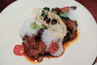 "Birds Of A Feather At Amoy Street, Modern Sze Chuan Food In Western-Style - ""Hong Shao"" Short Ribs ($38)"