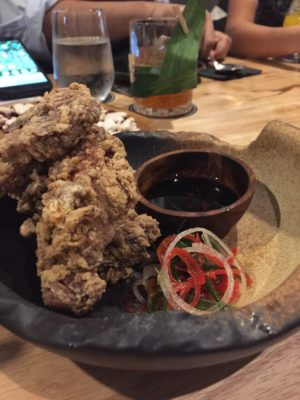 The Sampan Breathes New Life into Boat Quay - Sichuan Pepper Chicken Spare Ribs with Spring Onion Salad ($12)