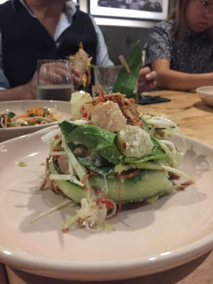 The Sampan Breathes New Life into Boat Quay - Blue Swimmer Crab and Pomelo Salad ($14)