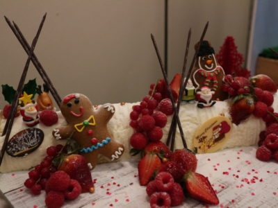 Santa's Christmas Circus Festive buffet at Mercure Singapore Bugis - White chocolate log cake