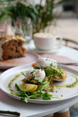 Carrotsticks and Cravings At Loewen Garden With Al Fresco Dinning Only - Smashed Avo Smoked Salmon and Poached Eggs ($26)