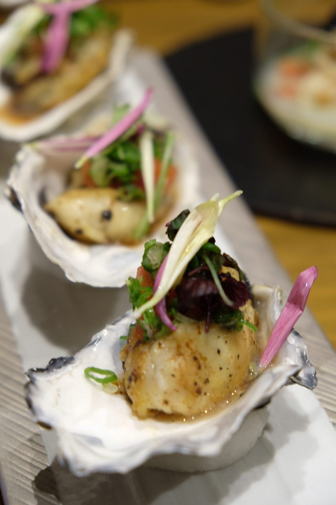 Teppan Kappou Kenji Offers Amazing Food - Japanese Oysters From Mie Prefecture, 3pc ($22)