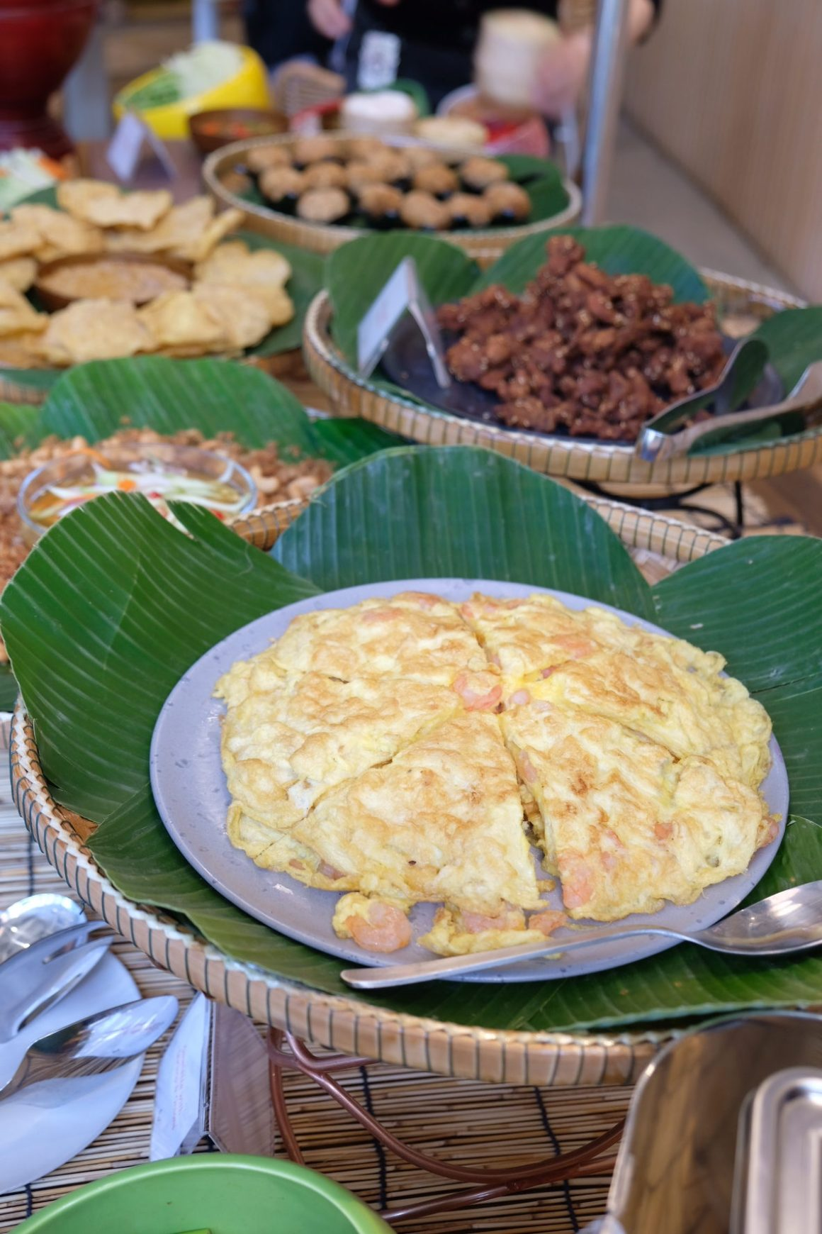 The Great Baan Ying Brunch On Weekends - Kai Jiew Koong (Omelette with shrimp & Onions)