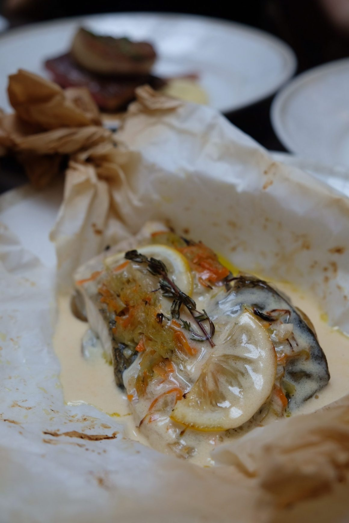 Poulet x Chef Justin Quek Classic French Dishes At Affordable Price - Baked Seabass Fillet En Papillote ($15.90)