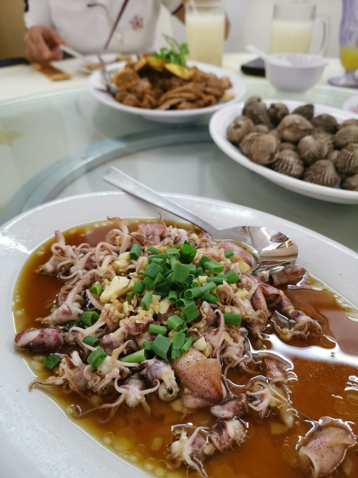 Sin Chao Gardens Teochew Porridge At River Valley Road - Steamed Baby Squid with Garlic