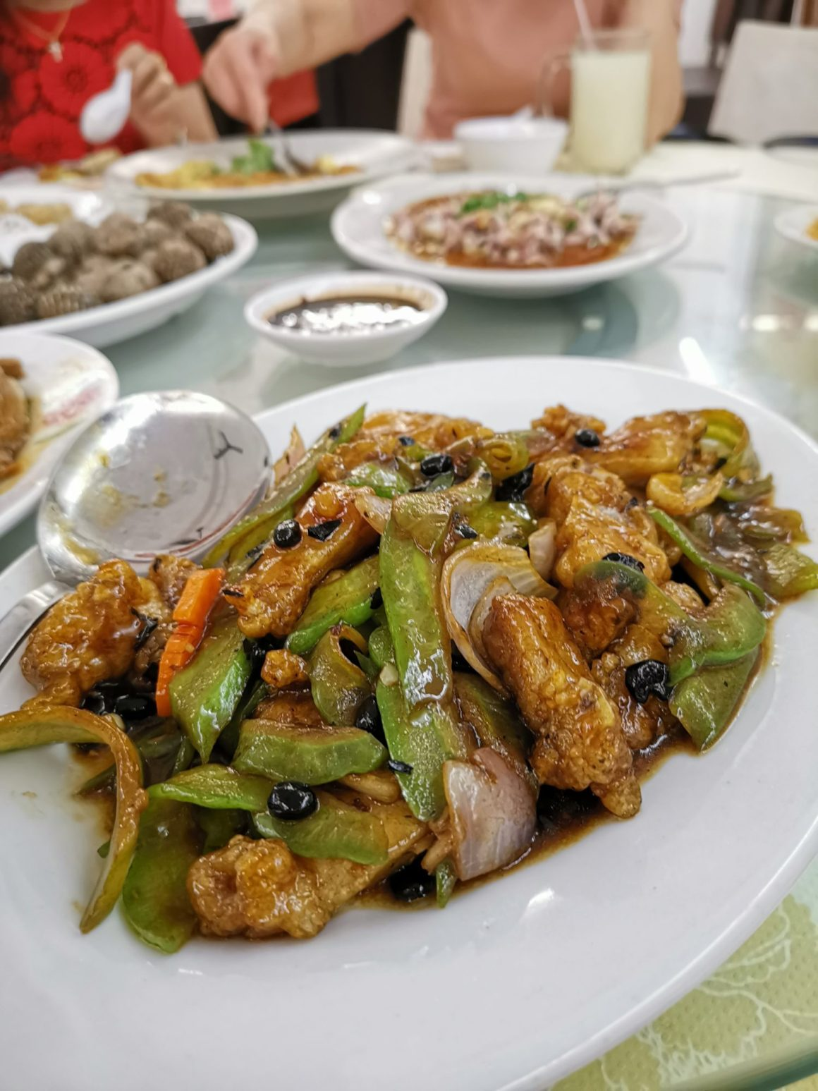 Sin Chao Gardens Teochew Porridge At River Valley Road - Stir-Fried Bitter With Black Bean