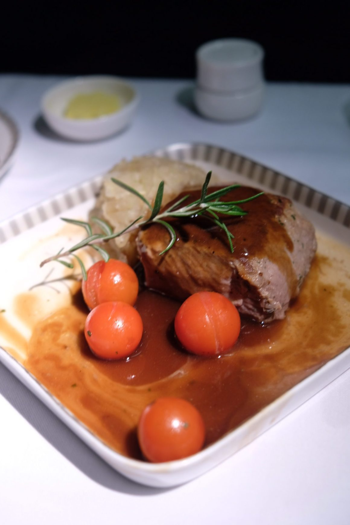 Singapore Airlines Business Class SQ334 From Singapore To Paris – Seared Lamb Loin