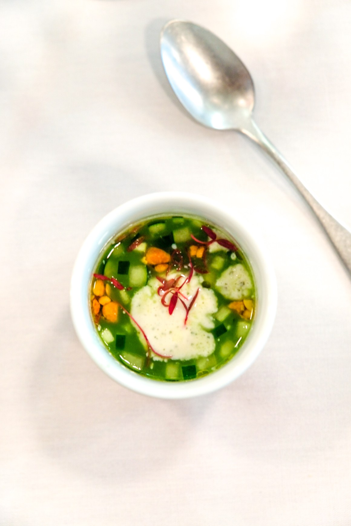 Restaurant Jag Celebrate Earth Day With Spring Produce - Verveine, Cucumber Water, Tofu Creme