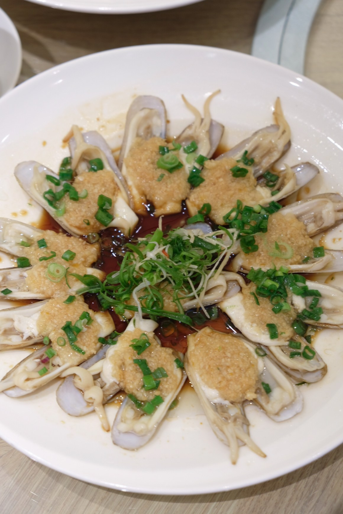 Steamed DOU TOU Clam with Minced Garlic 蒜茸蒸蛏