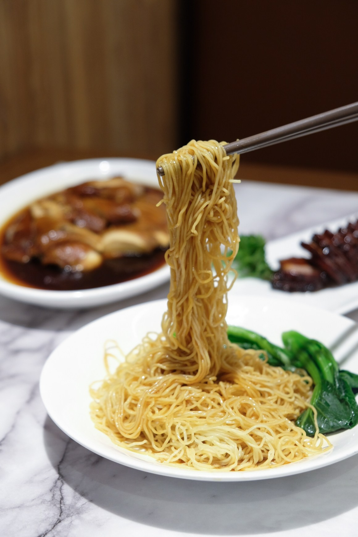 Ho Fook Hei Soy Sauce Chicken By Joyden At Great World City - Egg noodles ($3.80)