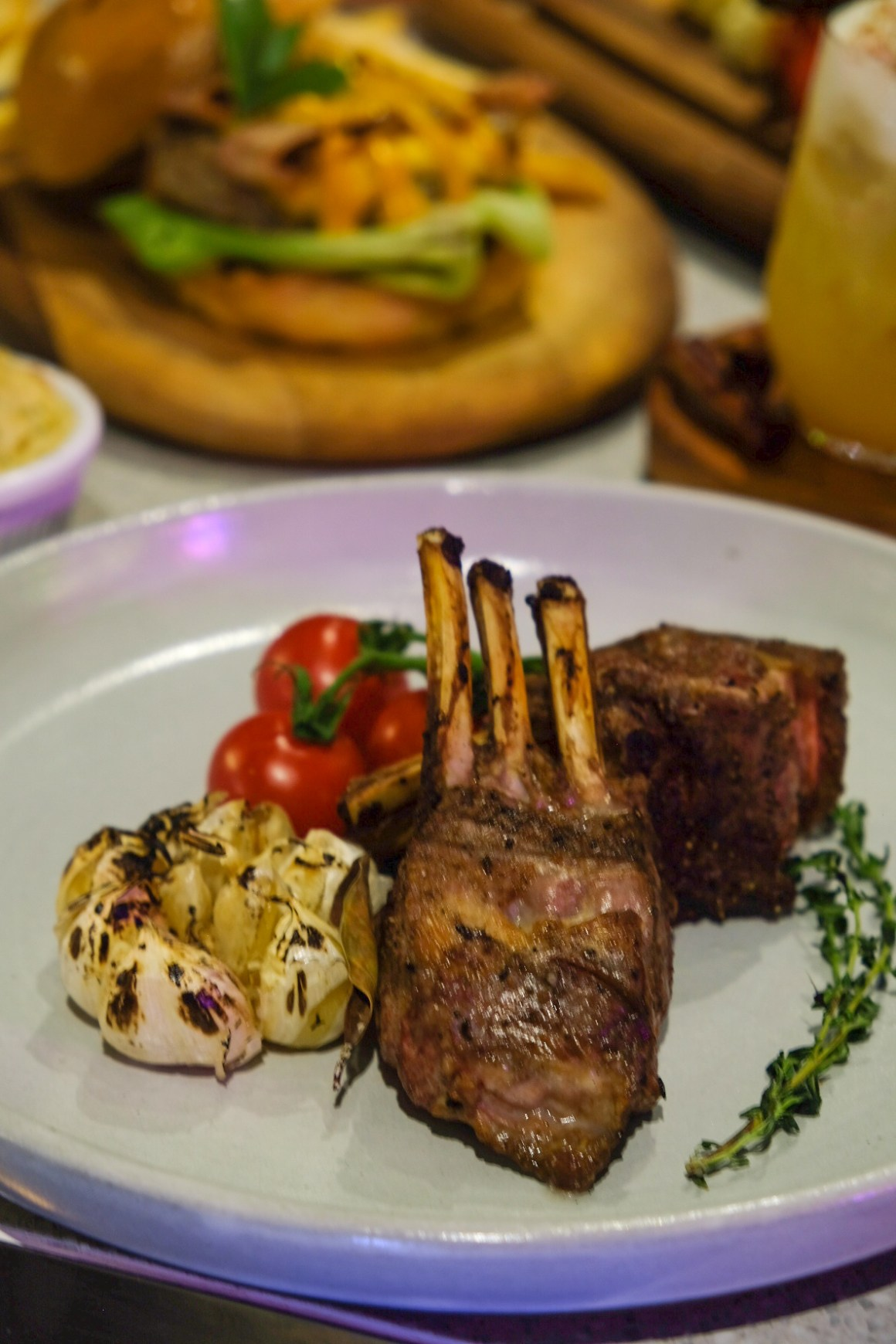 Rumours Bar & Grill @ Jewel Changi, Second Outlet - Australian Baby Lamb Chops with Garlic Confit ($45.80)