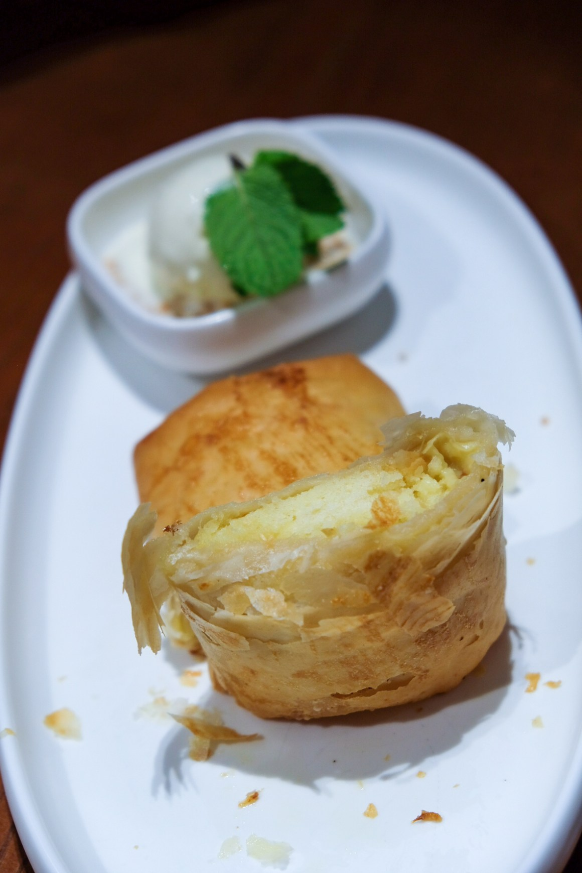 JÙN @ Capri By Fraser - Warm D24 Durian with Filo Pastry