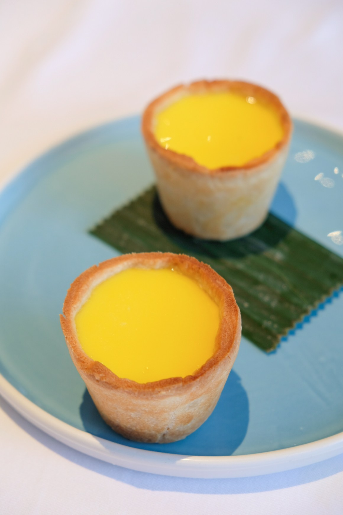 Forbidden Duck Singapore By 3 Michelin Stars Chef Alvin Leung - Giant Egg Tart 巨人柚子蛋撻 ($6/2pcs)