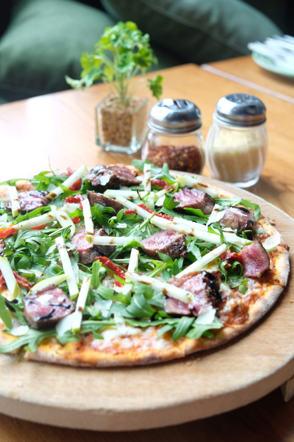 Supply & Demand Orchardgateway New Menu - Sear Beef with Pear Pizza ($25, $29)