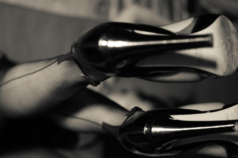Underpart of high heels an ff nylons