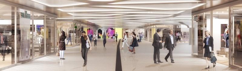Visualisierung: Neugestaltete B-Ebene im Hauptbahnhof Frankurt am Main. © Deutsche Bahn AG