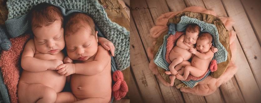 Sesiones newborn de gemelos en Valencia