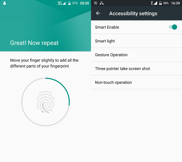 gretel a9 fingerprint and smart gestures