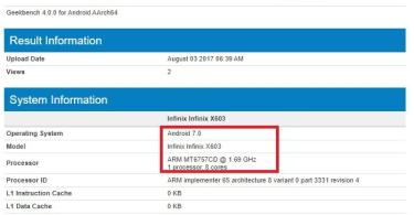 Infinix Zero 5 Specs Leaked