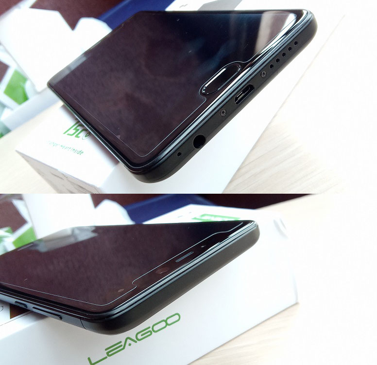leagoo t5c top and bottom borders