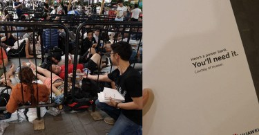 Huawei Trolls Apple By Giving Out Free Power Bank To People On Queue To Buy New iPhones