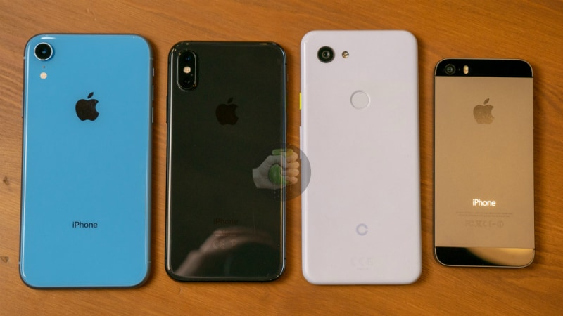 iPhone XR, iPhone XS, Google Pixel 3 Lite, iPhone 5S
