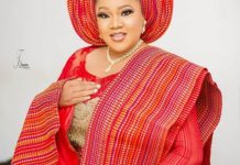 Toyin Abraham Prepare Fans For Her Birthday With Complete Traditional Red Attire