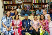 Lovely family photo of Agbani Darego with her in-laws, The Danjumas