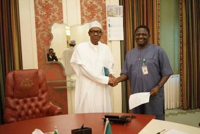 Femi Adesina with President Buhari