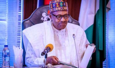 President Buhari Happy