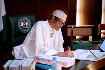 President Buhari Signing