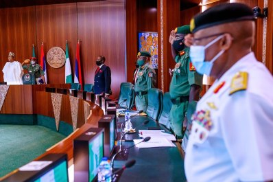 President Buhari and Service Chiefs