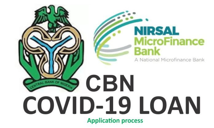 How to Apply for CBN COVID-19 Loan on Nirsal MFB portal