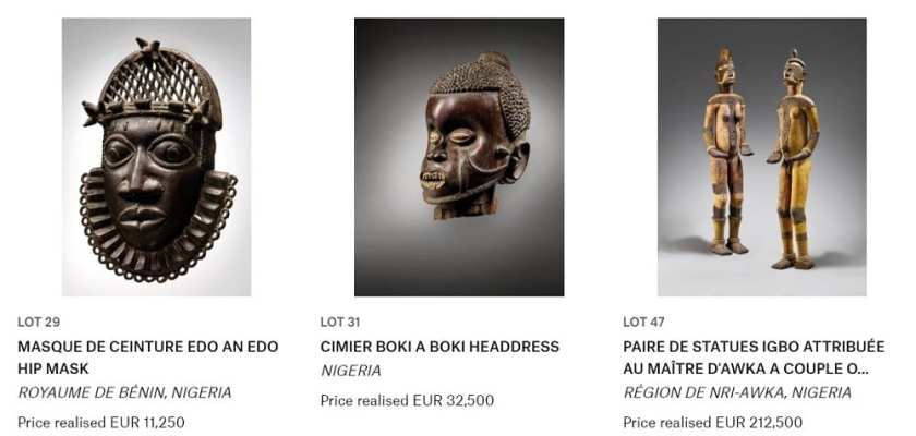 Nigeria Stolen Artifacts Auction In Paris