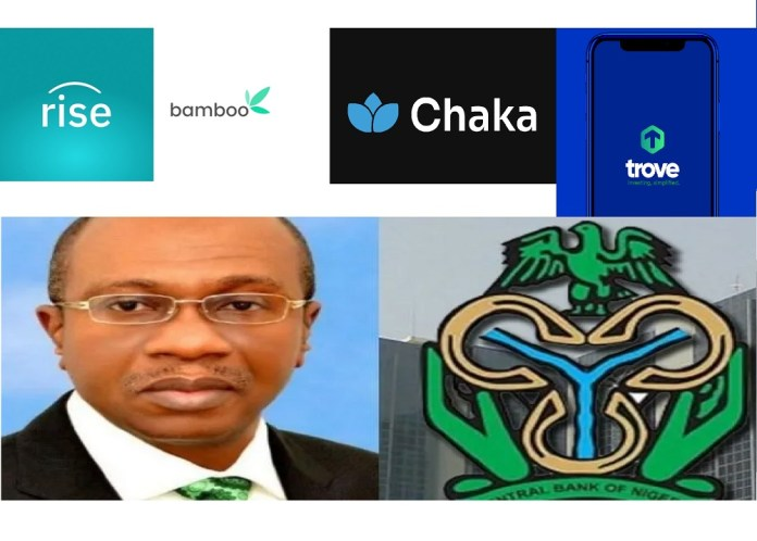 Why CBN suspended the account of Bamboo RiseVest