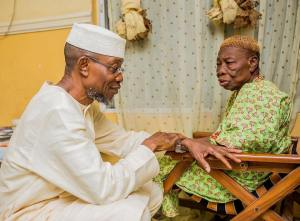 Governor Aregbesola's Aged Mother Blesses As He Turns 60 (Photo)