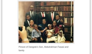 Dangote's First Son, Heir To His Wealth And Fortune Revealed ( Photos)