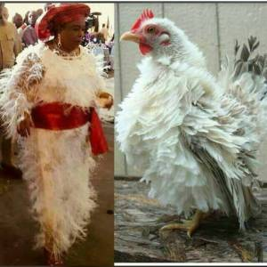 Patience Jonathan's Christmas Dress Compared To A Fowl (Photo)