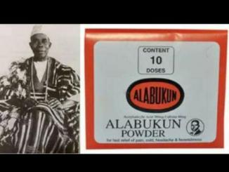 See the man who invented Alabukun powder, 100 years ago