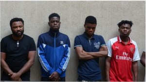 6 Yahoo Boys With 10 Laptops, 17 Phones & A Car Arrested In Abuja (Pic)